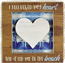 "Young's 8.5"" x 1"" x 12.25"" Inc Wood Heart Table/Wall Sign"