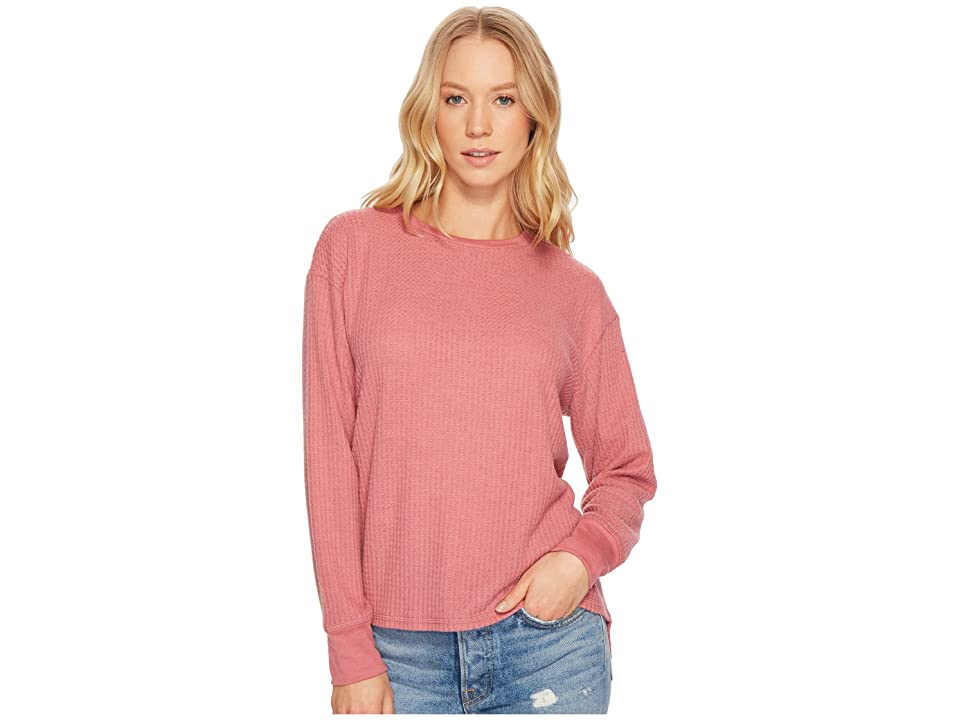 Project Social T Sweet Low Long Sleeve Top (Velvet Blush) Women's Long Sleeve Pullover
