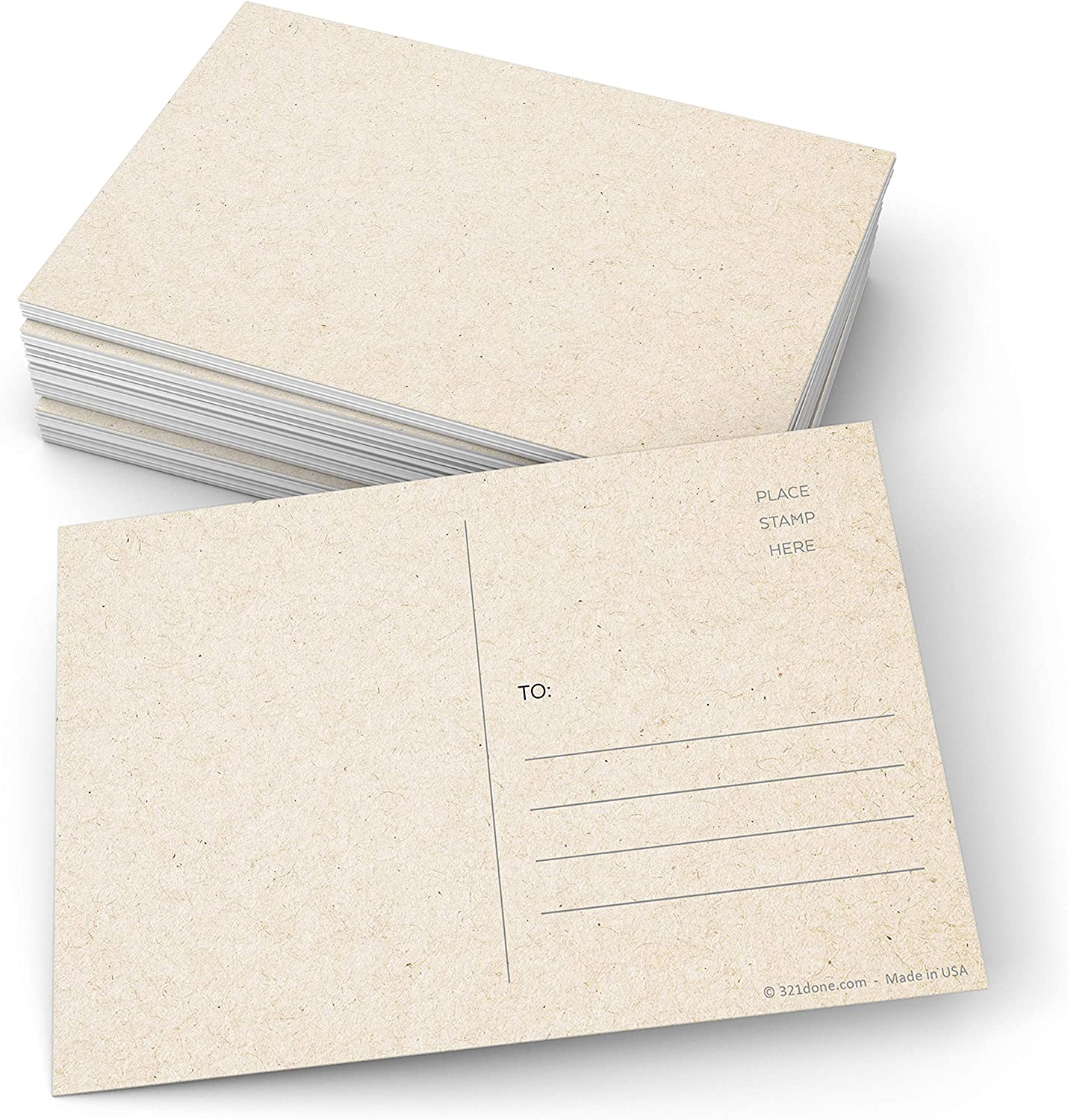 321Done Blank Ranking TOP18 Kraft-Colored Postcards Set Max 75% OFF of x 4