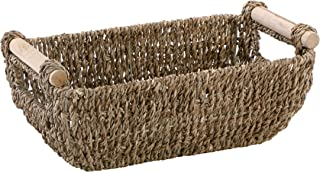 Hoffmaster BSK3000 Seagrass Basket with Handles, 4.25