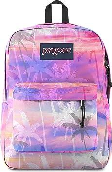 JanSport SuperBreak One Backpack - Lightweight School Bookbag, Palm Paradise