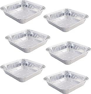Set of 6 Small Disposable Aluminum Foil Square Baking Pans