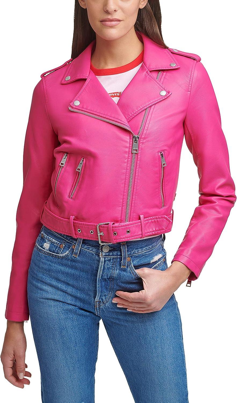 1着でも送料無料 Levi's Women's Faux Leather Belted 人気ブレゼント Jacket Standard a Motorcycle