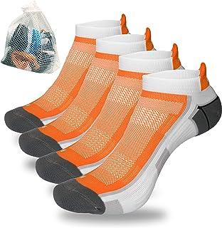 Tympo Running Socks men ankle compression socks women no show 4pack toe socks