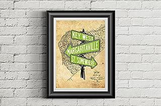 JIMMY BUFFETT Inspired 11x14 Poster Print | Key West | Margaritaville