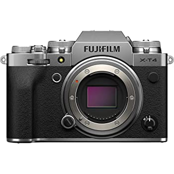 """Fujifilm X-T4 Fotocamera Digitale Mirrorless 26 MP, Sensore X-Trans CMOS 4, Stabilizzatore IBIS, Filmati 4K 60p, Mirino EVF, Schermo LCD 3"""" Touch Vari-Angle, Solo Corpo, Argento"""