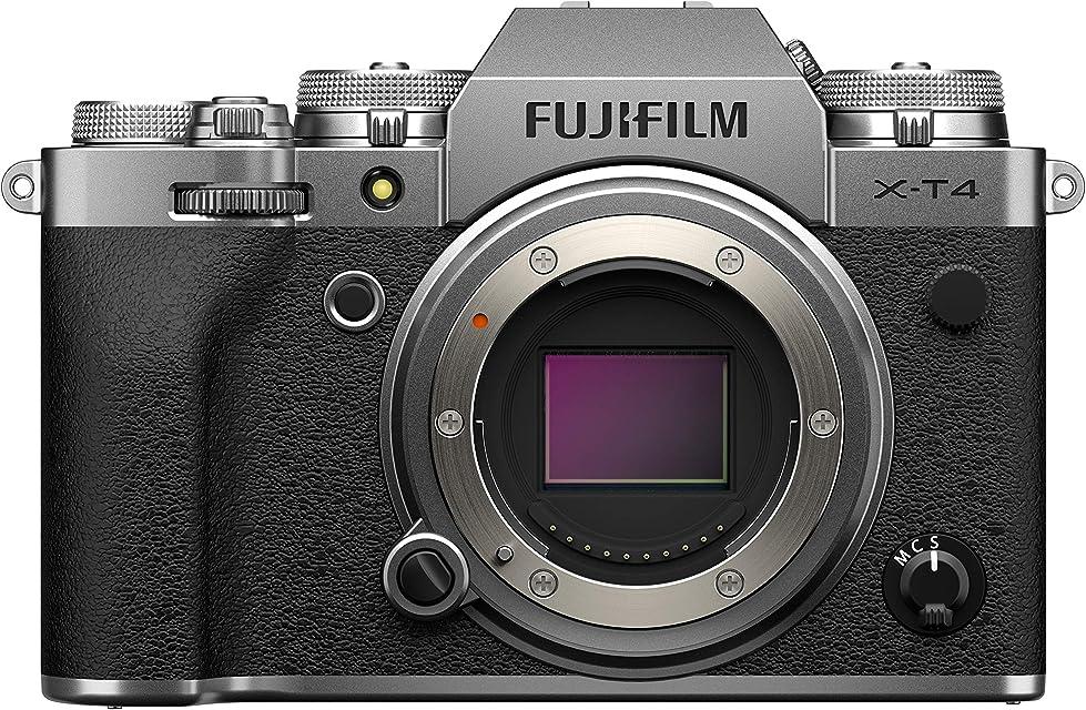 Fujfilm X-T4 Cámara Digital sin Espejo de Objetivo Intercambiable Color Plateado