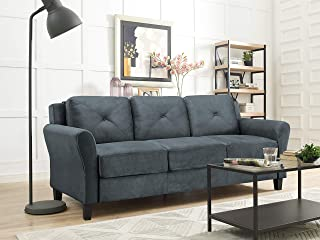 Amazon.com: Fabric - Sofas & Couches / Living Room Furniture ...