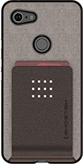 Ghostek Exec Magnetic Leather Wallet Case Designed for Google Pixel 3 XL (2018) - Brown