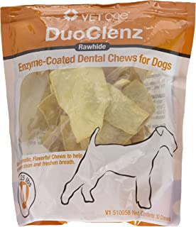 Vet One DuoClenz EnzymeCoated Dog Oral Care Dental Chews for Medium Size Dogs - Clean Teeth