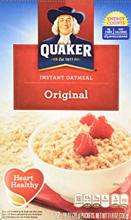 Quaker Instant Oatmeal Original, 12-Count Boxes (Pack of 2)
