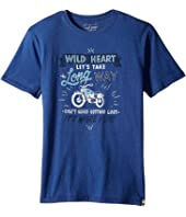 Lucky Brand Kids - Long Way Tee w/ Short Sleeves (Big Kids)