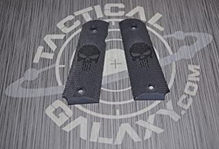 Tactical Galaxy Punisher 1911 Grips Cerakote Color - Laser Engraved Images
