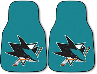 FANMATS NHL San Jose Sharks Nylon Face Carpet Car Mat
