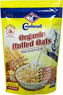Cowhead Organic Rolled Oats Regular, 500g
