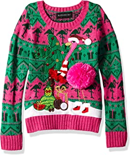 Blizzard Bay Girls Ugly Christmas Sweater Animals