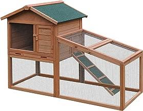 ALEKO ACCRH56X25X39 Wooden Fir Pet House Chicken Coop Hen House Rabbit Hutch 5 x 2 x 3.5 Feet