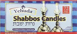 Yehuda 3 Hour White Sabbath Candles, 72 ct