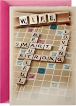 Hallmark Valentines Day Card for Wife (Scrabble)