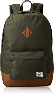 Herschel Heritage Backpack, Dark Olive/Saddle Brown, One Size