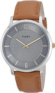 Reloj Timex Metropolitan de 40mm para hombres, Marrón/Gris