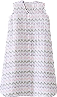 HALO 100% Cotton Muslin Sleepsack Wearable Blanket, Pink Chevron, Small