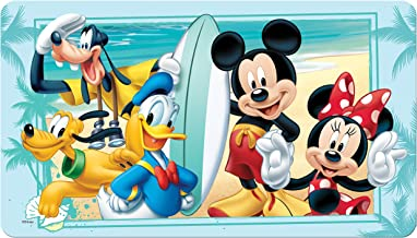 "Disney Mickey Mouse ""Summer Fun"" Decorative Bath Mat, Blue"