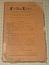 1906 Folk Lore Magazine:Native Tribes of South East Australia - European Sky God - Tree Worship In China