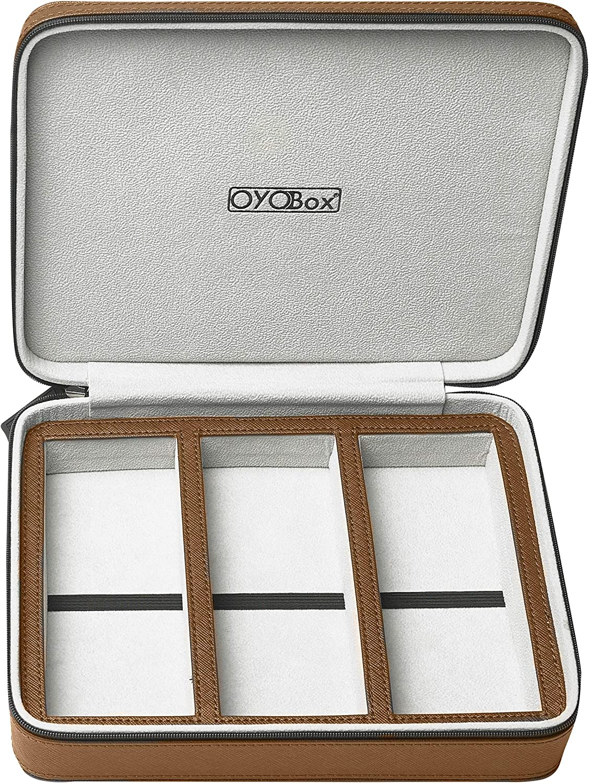 OYOBox Eyewear Travel Case Luxury Multiple 4 years warranty New mail order Organizer 3-Slot for