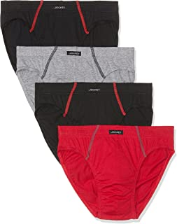 Jockey Men's Underwear Cotton Brief (4 Pack)