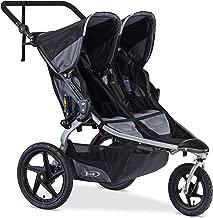 BOB Revolution Flex Duallie 2.0 Jogging Stroller - Up to 100 pounds - UPF 50+ Canopy - Adjustable Handlebar, Black