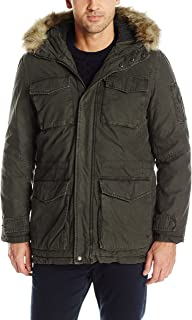 Men's Sherpa Lined Parka with Removable Faux Fur Trim