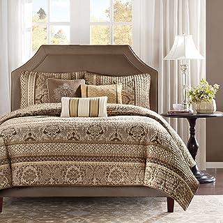 Madison Park Quilt Traditional Damask Design All Season, Lightweight Coverlet Bedspread Bedding Set, Matching Shams, Pillo...