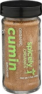 Spicely Organic Cumin Powder 1.70 Ounce Jar Certified Gluten Free