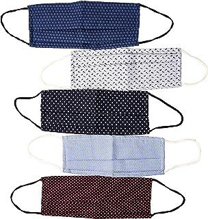 Centopercento Camicie 5 Mascherine lavabili, Mascherina Lavabile Cotone, Mascherine in tessuto,con Filtro Certificato Made...