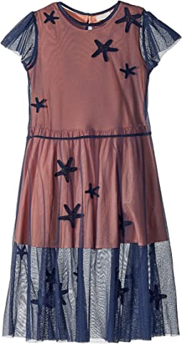 Stella McCartney Kids - Marigold Long Tulle Dress w/ Star Patches (Toddler/Little Kids/Big Kids)