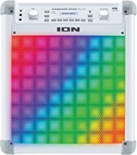 Ion Audio IPK3 Karaoke Star Plus Karaoke Party Sound System Rechargeable Portable Bluetooth Speaker Vocal Effects (Non-Retail Packaging)