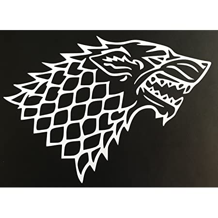 "A Game of Thrones Wolf Vinyl Decal 5.5/"" Stark v2 noir blanc ou rouge Custom"