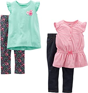 Toddler Girls' 4-Piece Tops and Pants Playwear Set