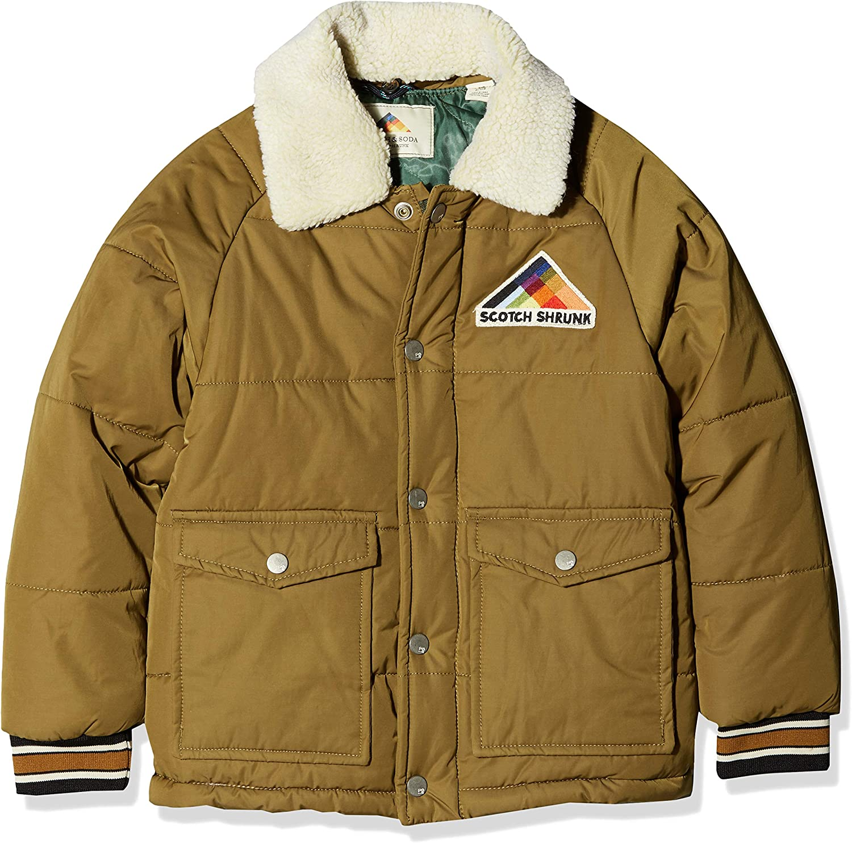 Scotch & Soda Jungen Jacke Jacke Jacke Padded Jacket with Detachable Teddy Collar in Short Length B07CLB9V6P  Bequeme Berührung 9c3468