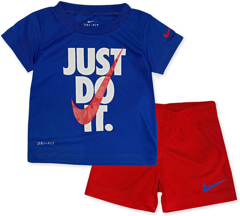 Nike Boy`s 割引 Dri-Fit T-Shirt Shorts Piece University ●日本正規品● 2 Set Red