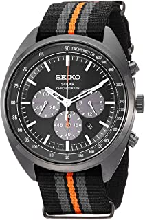 Seiko Men's RECRAFT Series Stainless Steel Japanese-Quartz Watch with Nylon Strap, Black, 21 (Model: SSC669