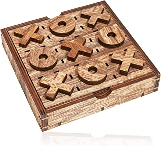 Bright Creations Tic Tac Toe Wood Board Game (2 Pack)