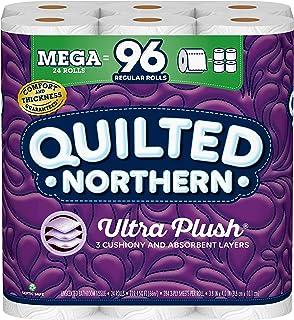 کاغذ توالت Quilted Northern Ultra Plush ، 24 مگا رول ، 24 = 96 رول منظم ، 3 بافت حمام 3 لایه