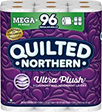 Quilted Northern Ultra PlushToilet Paper, 24 Mega Rolls, 24 = 96 Regular Rolls, 3 Ply Bath Tissue