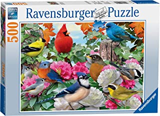 Ravensburger Garden Birds 500 Piece Jigsaw Puzzle for Adults – Every Piece is Unique, Softclick Technology Means Pieces Fit Together Perfectly