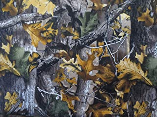 Camouflage Leaves Cotton Fabric - Sold By the Yard