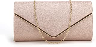 pink gold clutch bag
