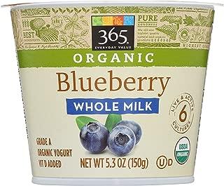 365 Everyday Value, Organic Whole Milk Yogurt, Blueberry, 5.3 oz