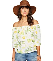 kensie - Lemon Tree Off Shoulder Top KS6U4009